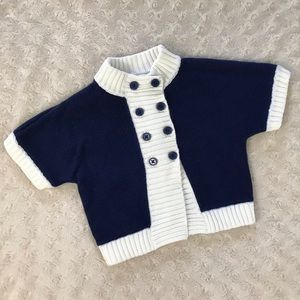Janie and Jack Sweater Blue White 12-18 Months